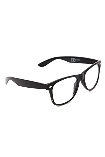 20ff7e0f55 Amazon.com  Nerd Glasses Black  Clothing