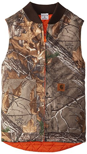 (Carhartt Big Boys' Reversible Camo Vest, Real Tree Xtra, Medium/10/12)