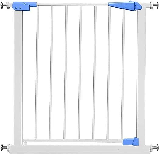 WYSFHL Puerta de Seguridad for niños, Puerta de Escalera, Puerta de Cierre automático Puerta de Seguridad Ajuste de presión Blanco Expandible 75cm a 84cm Puerta de Seguridad metálica Extensible: Amazon.es: Hogar