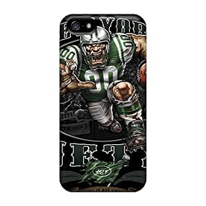 Shock-Absorbing Hard Cell-phone Case For Iphone 5/5s (ibe14219QBjV) Allow Personal Design Lifelike New York Jets Pattern