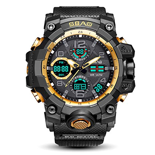 Multifunction Sport Watch Men Analog Waterproof Military Chronograph Clock Electronic LED Digital Big Face Analog Digital Watch for Men