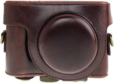 Color : Coffee Camera Bags Cases Leather Camera Case Bag for Sony HX50 Brown