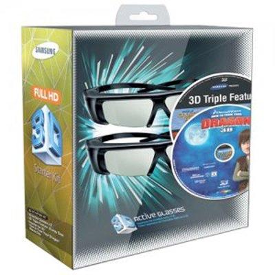 Samsung SSG-P2100X/ZA (IMAX/Dragon) 3D Starter Kit, Black by Samsung