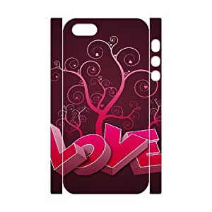 HXYHTY Cell phone Protection Cover 3D Case Love Pink For Iphone 5,5S
