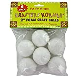 48 Foam craft balls (assorted sizes)