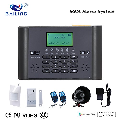 BAILING Home Security Alarm System Wireless LCD GSM & SMS House Burglar Intruder Auto Dialer
