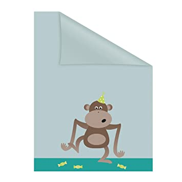 Lichtblick Fensterfolie Selbstklebend Sichtschutz Motiv Affe Grun