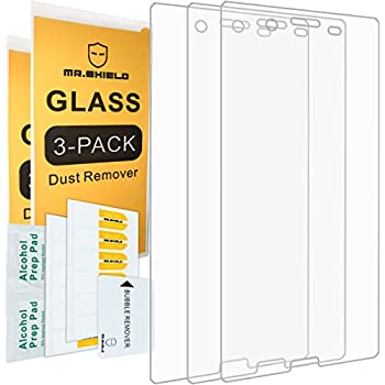 [3-PACK] - Mr Shield For Sony Xperia XZ [Tempered Glass] Screen Protector [0.3mm Ultra Thin 9H Hardness 2.5D Round Edge] with Lifetime Replacement Warranty