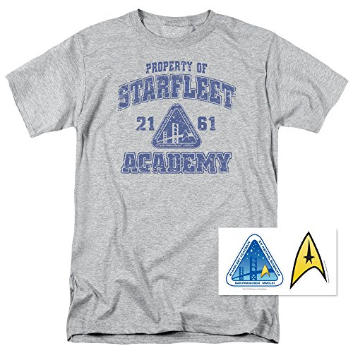 Popfunk Star Trek Distressed Starfleet Academy T Shirt (Star Trek Cloths)