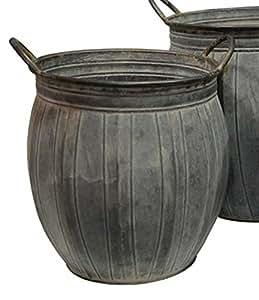 Zinc de barro (cinc D 28cm Maceta de bottich Maceta flores bottich