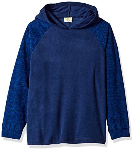 (Crazy 8 Little Boys' Long Sleeve Fleece Raglan Hoodie, Navy, XL)
