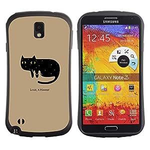 Paccase / Suave TPU GEL Caso Carcasa de Protección Funda para - Funny Look 4 Moons Cat - Samsung Note 3 N9000 N9002 N9005