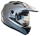 Stealth Cross Tour Dual Sport Helmet (Silver, X-Large)