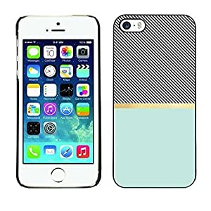 Style Protective Case Hard Shell Cover for Cellphone Iphone 5 5S Cross Pattern Illusion Teal Black ka ka case