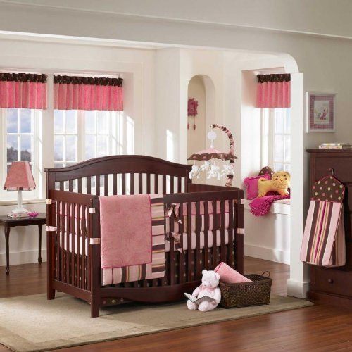 - Raspberry Truffle 3 Piece Baby Crib Bedding Set by Bananafish