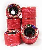 Roller Skate Wheels 8-Pack 62Mm 96A Swirls Indoor Rec Quad