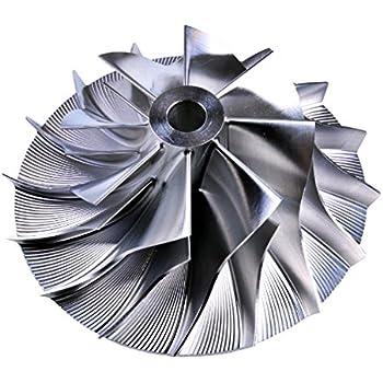 44//73 mm 7+7 Turbo Billet Compressor Wheel For Holset Cummins H1C