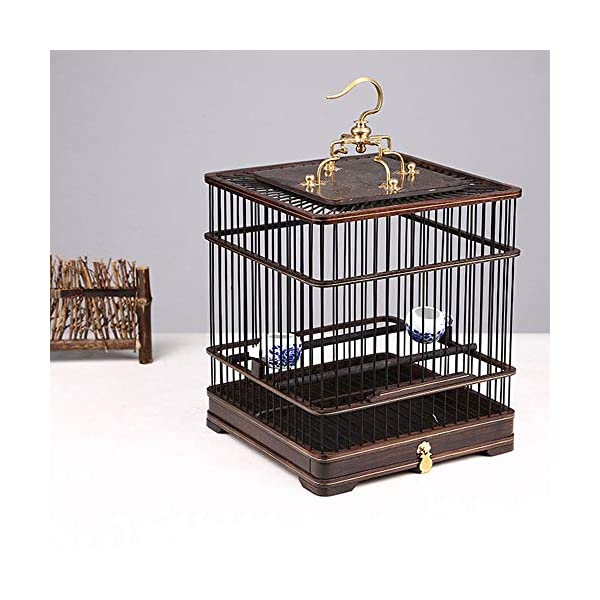 ZRZJBX Small Birdcage/Prevue Bird Cage/Bird Cage Accessories/Ebony Bird Cagepolished Through Multiple Processes