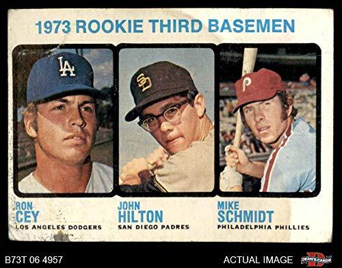1973 Topps # 615 Rookie Third Basemen Mike Schmidt/Ron Cey/John Hilton Dodgers/Padres/Phillies (Baseball Card) Dean's Cards 2 - GOOD Dodgers/Padres/Phillies