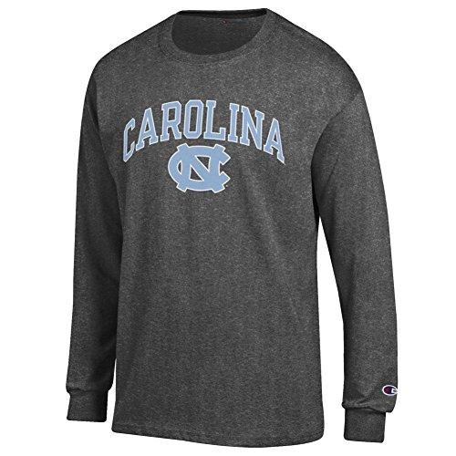 (Elite Fan Shop North Carolina Tar Heels Long Sleeve Tshirt Varsity Charcoal - M)