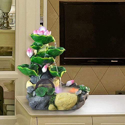 LMCLJJ 屋内睡蓮水噴水 - 小型はこれを完成する卓上装飾コンパクトで軽量の水槽装飾加湿器にします (Color : Atomization)