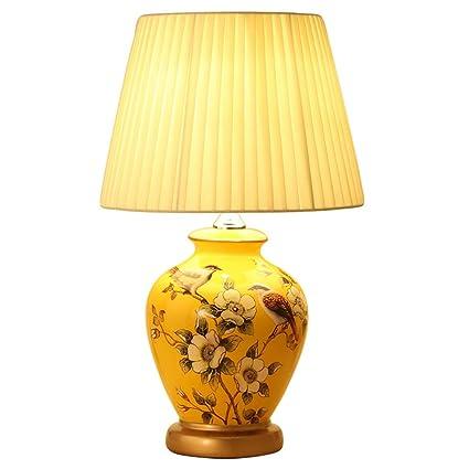 Amazon.com: WCJ Lámpara de mesa de dormitorio estilo chino ...