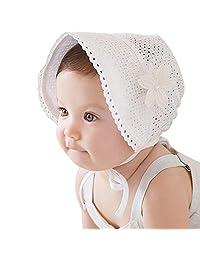 Babys Bonnet, Aniwon Kids Sun Cap Breathable Sun Protection Hat Summer Travel Hat with Bowknot Flower Decor