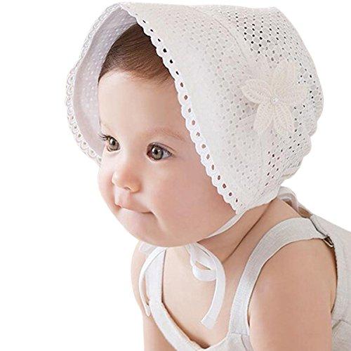 Baby Sun Cap,Aniwon Lace Hat Flower Bowknot Baby Bonnet Sun Hat for Infant Toddler