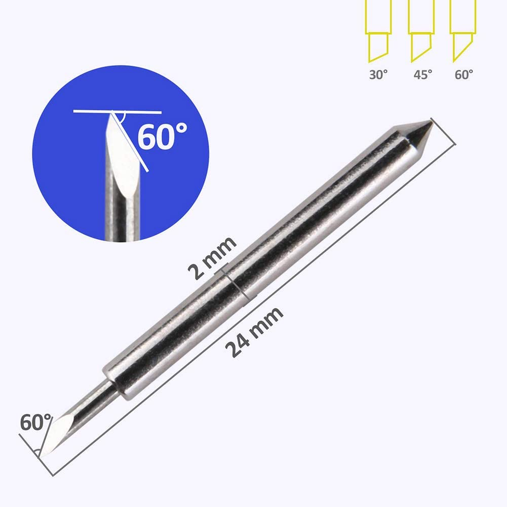 Graphtec Blade CB09 CB09U 15PCS 30 ° Blades, Vinyl Cutter Plotter Cutting Blades (Graphtec 30 °) … (Roland 60°): Amazon.es: Bricolaje y herramientas