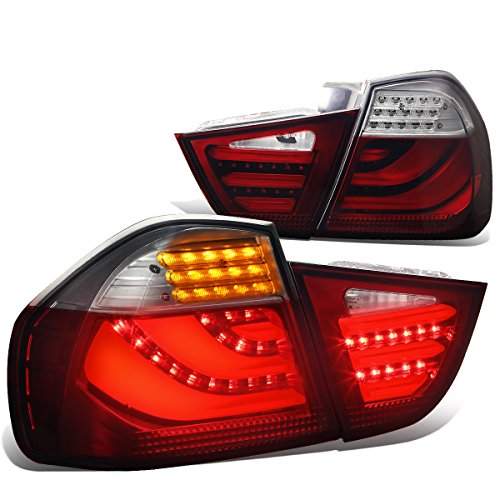 DNA Motoring TL-LED-3D-E9009-RD-SM 3D LED Tail Light Assembly [09-11 BMW 3-Series 4-Dr (Bmw 3 Series Coupe Headlamp)