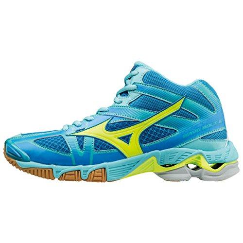 Volleyball Chaussures bleu Wos Wave Mizuno Mid Femme de Bolt qBYWf