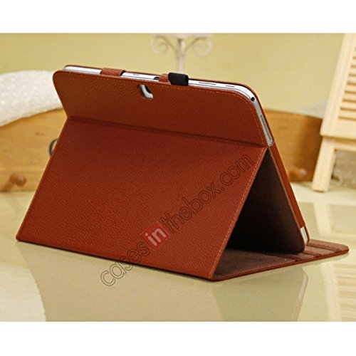 Rotating Tablet Folio Case: Color Brown 10
