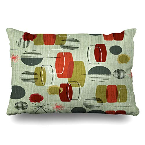 (DIYCow Throw Pillows Covers Weave Retro Wavy Vintage Shapes Pattern Cushion Case Pillowcase Home Sofa Couch Standard Size 20 x 26 Inches Pillowslips)