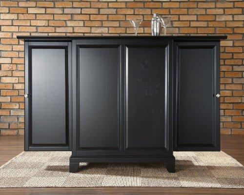 Crosley Furniture Newport Expandable Bar Cabinet in Black Finish from Crosley Furniture