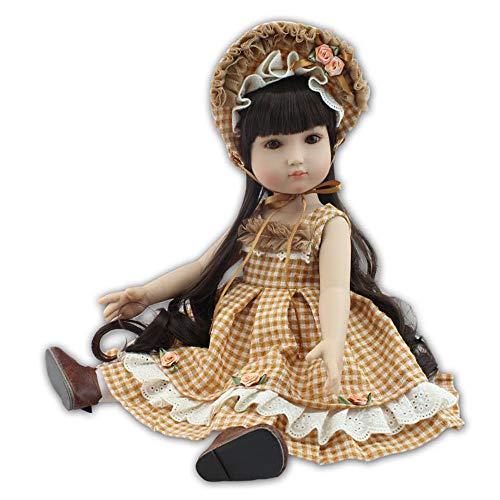 45cm Dolls - USHOT Lifelike Reborn Baby Doll 45cm Newborn Doll Kids Girl Playmate Birthday Gift Multicolored One Size