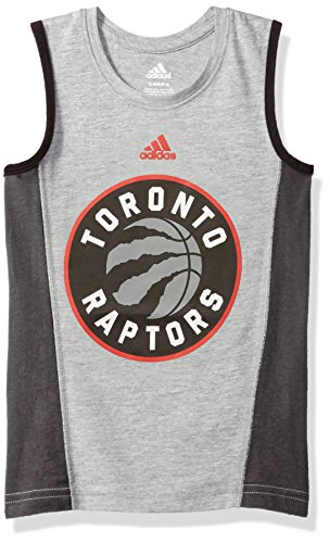 (NBA Boys 4-7 Toronto Raptors Fan Gear Tank-Heather Grey-S(4))