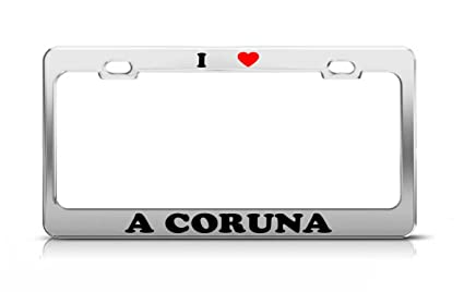 Amazon.com: I HEART A CORUNA Spain Metal Auto License Plate ...