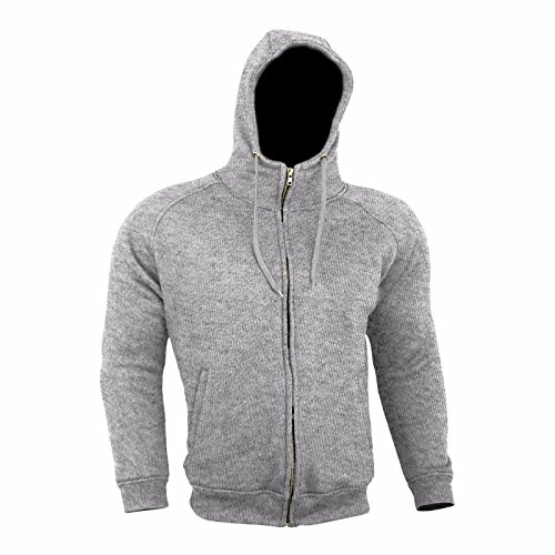 Medium, Grey JET Motorcycle Motorbike Kevlar Hoodie Aramid Reinforced Lining Cotton