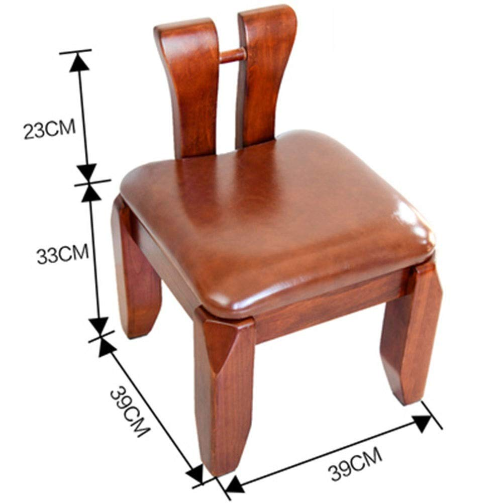 E HATHOR-23 Stools- Wooden bench- small stool coffee table stool back stool stool camphor wood bench home shoe bench leather stool (color   E)