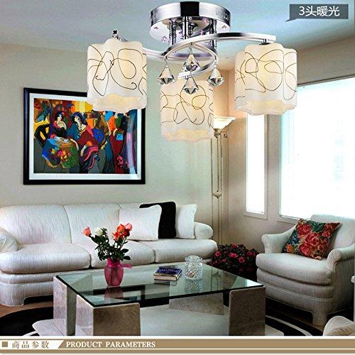 El cristal llevó la lámpara de techo moderna minimalista ...