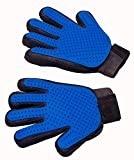 [Upgraded Version] Pet Grooming Gloves - Gentle Brush Gloves - Efficient Pet Hair Remover Mitts - Massage Tool with Enhanced Five Finger Design - Perfect for Dogs & Cats with Long & Short Fur