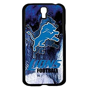 Blue, Black and White Detroit Lions Football Sports Hard Snap on Phone Case (Galaxy s4 IV)