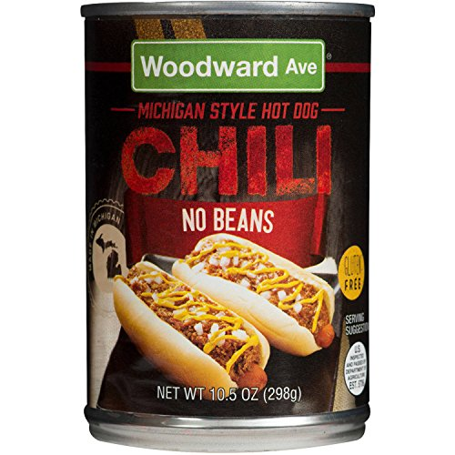 Woodward Ave Michigan Style Chili No Beans, 10.5 OZ (Best Coney Island In Detroit)