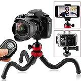 "Flexible Tripod, 12"" Camera Tripod + Bluetooth Remote for iPhone, Android Smartphone, Camera"