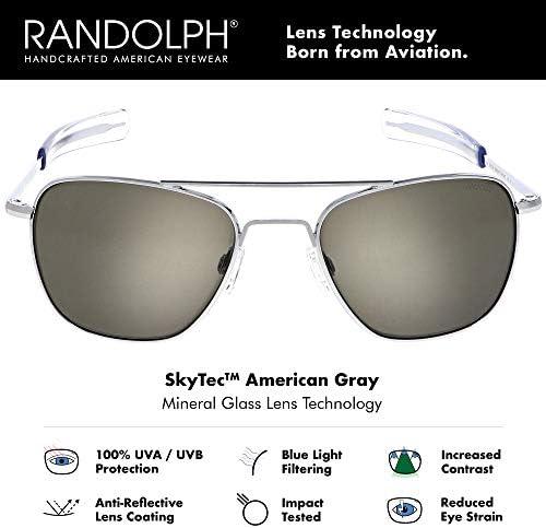 Randolph Aviator Bright Chrome Bayonet Gray - 55-20