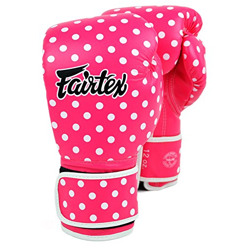 Fairtex BGV14 Microfibre Boxing Gloves Muay Thai Boxing, MMA, Kickboxing,Training Boxing Equipment, Gear for Martial Art (Vintage Polka, 8 oz)