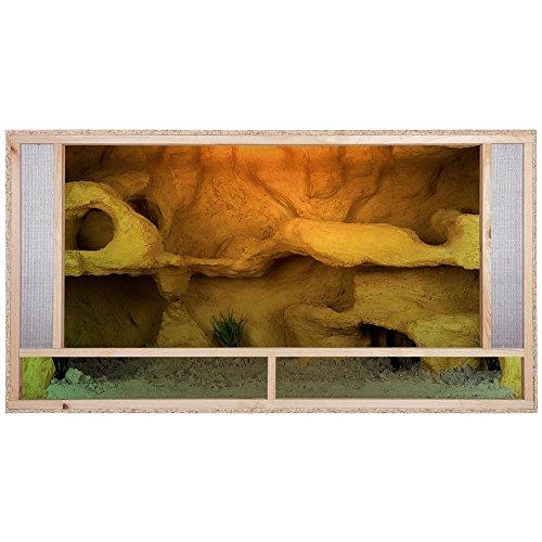 1 opinioni per Repiterra Terrario di legno 120x60x60 cm- comode prese di areazione frontali-