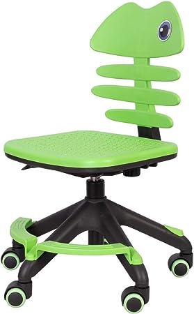 Children S Desk Chair Armless Home Office Computer Chair Adjustable Back Height Kids Reading Chair With Swivel Wheels Amazon De Kuche Haushalt