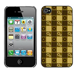 ZECASE Funda Carcasa Tapa Case Cover Para Apple iPhone 4 / 4S No.0002966