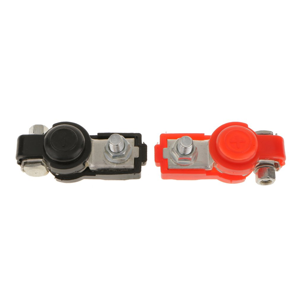 2X Adjustable Battery Terminal Clamp Copper Pile Clips +Cover For Auto Truck Generic